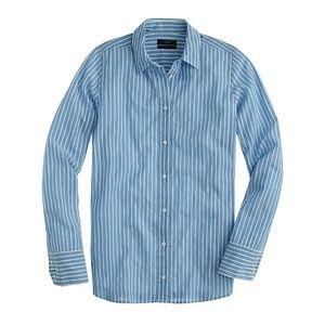 EUC J.Crew Boy Shirt in Tidewater Stripe